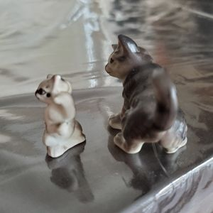 None Accents - Miniature Tabby Cat 2 pc Set